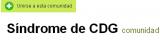 Síndrome de CDG - Comunidad