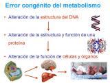 ¿Qué son los errores congénitos del metabolismo?
