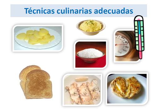 Técnicas culinarias adecuadas