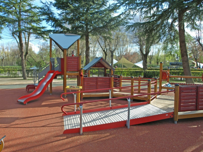 Parque Somontes (Madrid). Foto: Parques Infantiles Accessibles