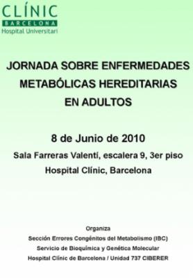 Jornada sobre enfermedades metabólicas hereditarias en adultos