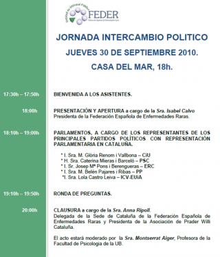Jornada de Intercambio Político de FEDER Cataluña