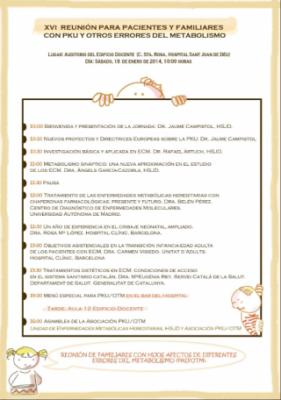 XVI Reunión para pacientes y familiares con PKU y Otros Errores del Metabolismo