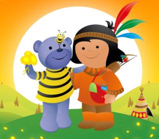 Jake, Oso Azul, Raffi y las Flores Mágicas Amarillas
