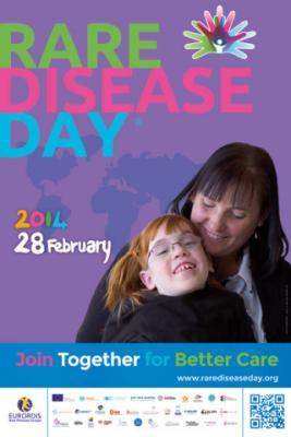 Póster Día de las Enfermedades Raras 2014. Foto: Rare Disease Day.