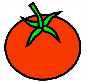 Dibujo de tomate. Foto: gazzaPax