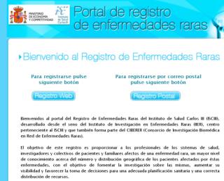 Web del Registro Nacional de Enfermedades Raras