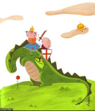 Sant Jordi y el dragón. Imágen: Olivia García Trunas