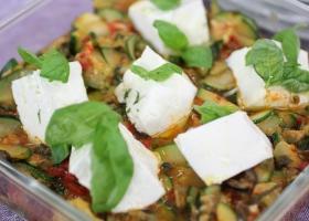 Calabacín con verduras al horno y grasa ibérica. Foto: M Berasategui
