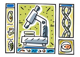 Ilustración de microscopio
