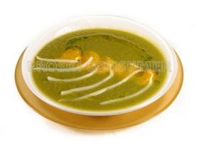 Crema de espinacas con mandarina salteada. Foto: Consumer Eroski