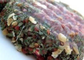 Rollo frio de carne y verdura