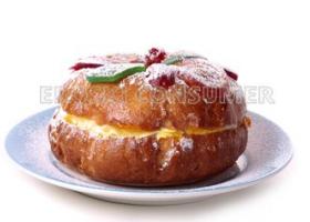Roscón de Reyes relleno de crema. Foto: Consumer Eroski