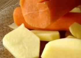 Zanahorias y patatas