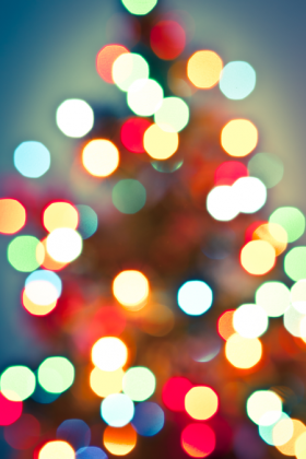 Luces del árbol de Navidad
