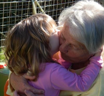 Abuelos y nietos juntos