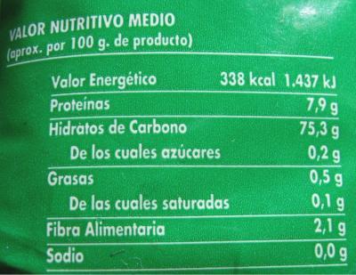 Etiqueta nutricional. Imagen: Wikimedia Commons