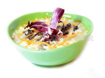 Cocido de boniato y arroz con achicoria. Foto: Consumer Eroski