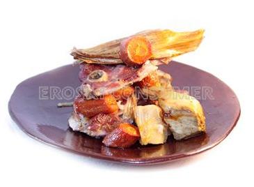 Pavo guisado al horno con boniato. Foto: Consumer Eroski