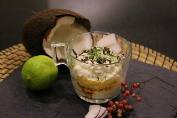 Stracciatela de coco y chocolate. Imagen: Nutricia
