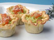 Tartaletas de guacamole