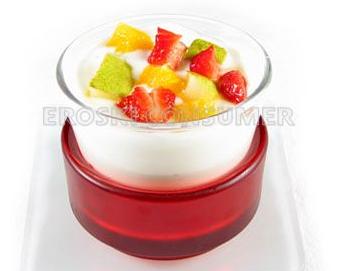Yogur natural con trozos de frutas frescas. Foto: Consumer Eroski