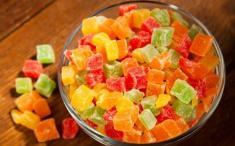 Caramelos de frutas deshidratadas