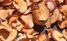 Chips de manzana. Foto: cobalt123