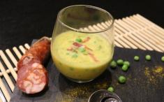 Crema de zanahoria con guisantes. Imagen: Nutricia