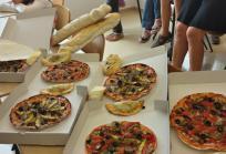 Pizzas con Renato's. Imagen: Hospital Sant Joan de Déu Barcelona